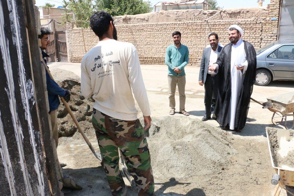 بازدید حجت السلام و المسلمین دکتر خوش باور از اردوی جهادی دانشگاه در روستای نجم آباد