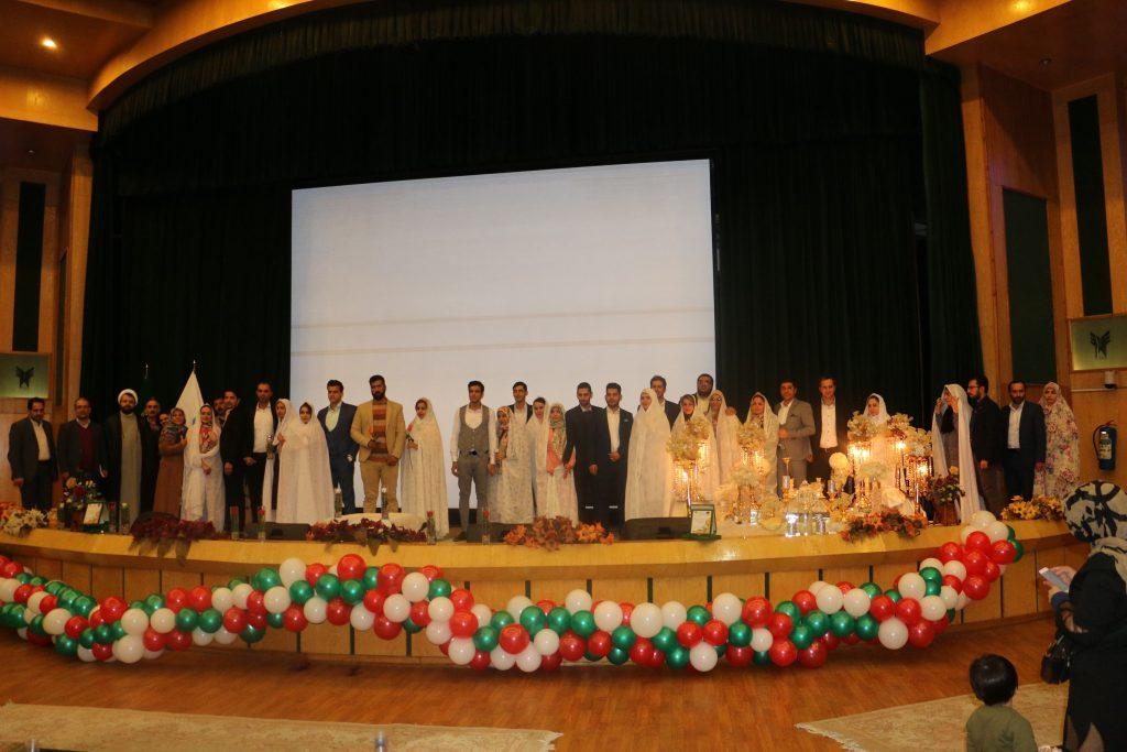 برگزاری بیست و سومین مراسم جشن ازدواج دانشجویی توسط دفتر نهاد نمایندگی مقام معظم رهبری در دانشگاه آزاد اسلامی استان البرز