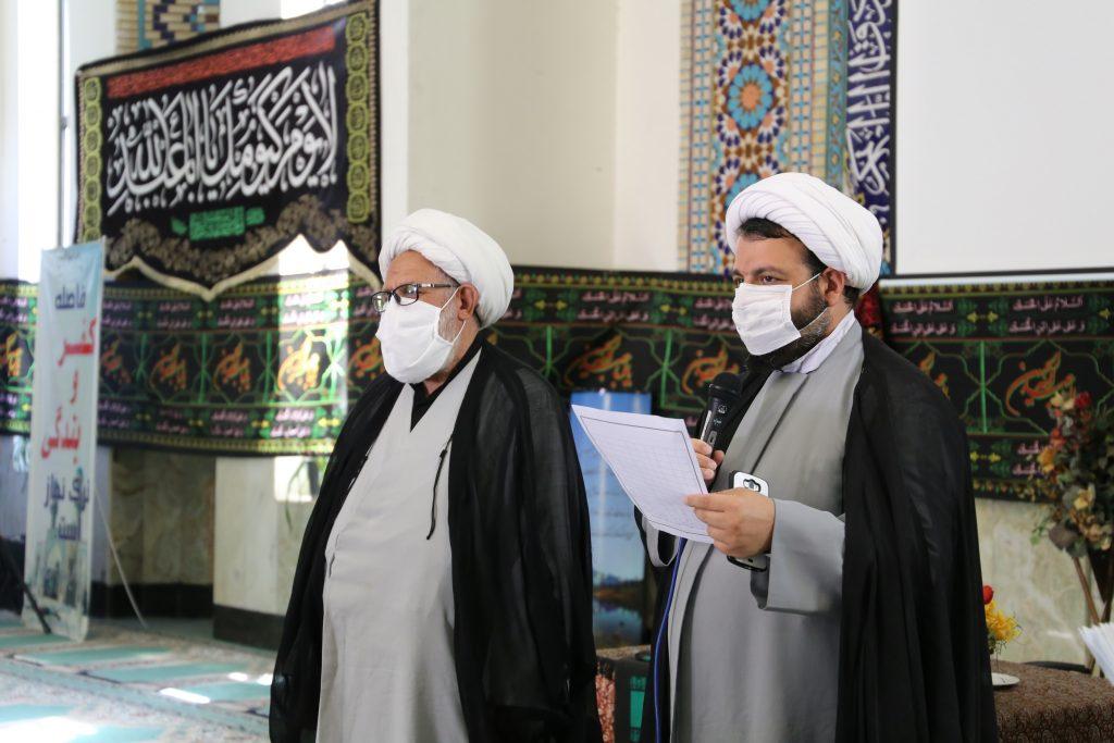 مراسم اهداء جوایز در رابطه با مسابقات فرهنگی عید غدیر ، مسابقه کتاب خوانی محرم و مسابقه پیامکی دهه اول محرم